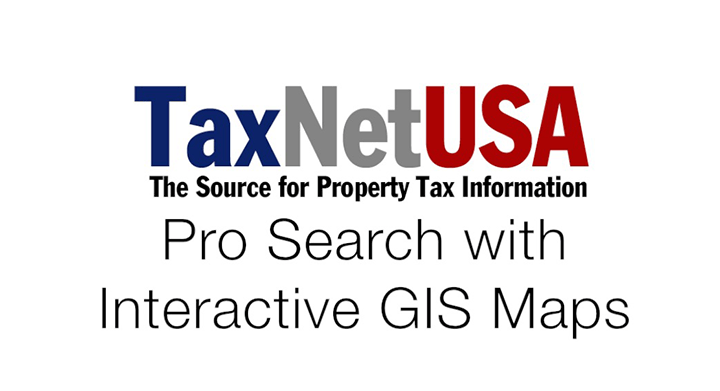 Interactive GIS Maps with TaxNetUSA Pro Search