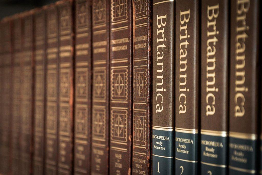 library, books, encyclopedia